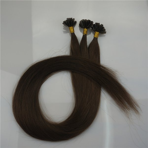 Paquet de 300g U Nail Astuce Extensions de Cheveux Fusion pré-collées, onde droite 300strands Paquet Kératine Bâton Cheveux Humains Brésiliens, Free DHL