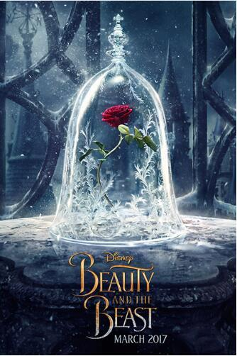 Schönheit und Tier rose Blume Wand Dekoration Poster Malerei HD Leinwand Wohnzimmer Home Wand Dekoration Stoff Poster