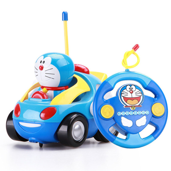 top popular Gravity Sensing 4CH Doraemon RC Car Gesture Control Cars with Controller Remote Control Car Gift for Kids toys free shipping 2020