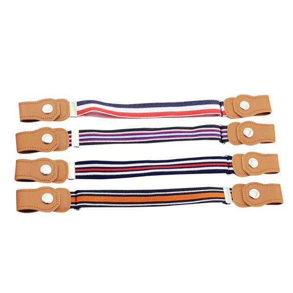 400PCS / LOT Children Elastic Belt Stretch Baby Short Waist Strap Striped Plaid Pattern Belt Pants Girdle