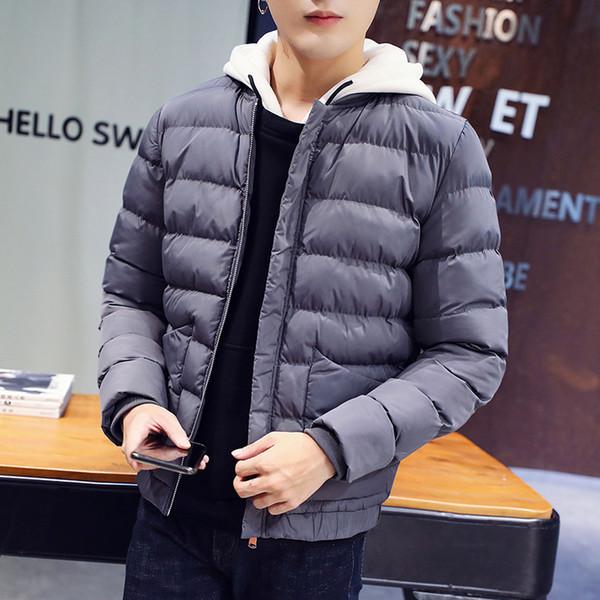 Mode Casual Hommes Veste D'hiver Plus La Taille Manteau D'hiver Tendance Coton Parka Plus épais Chaud Zipper Hommes Veste