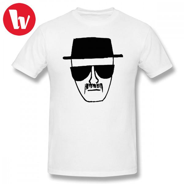 Heisenberg T Gömlek Artı Boyutu Erkekler Karikatür Baskı T-shirt Yaz Boy Tee Gömlek Streetwear T Shirt Kısa Kollu Temel T-shirt