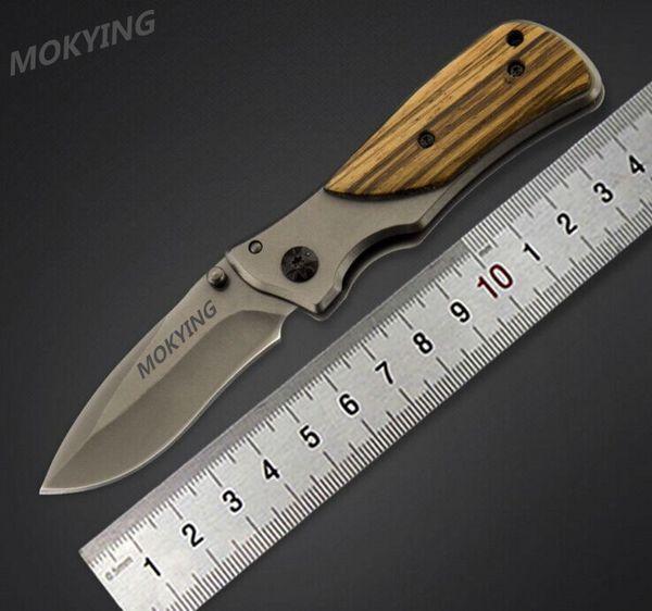 MOKYING X35 Cuchillo plegable 3Cr13Mov Blade Mango de madera 15 cm Supervivencia al aire libre Camping Mini Cuchillo de bolsillo Envío Gratis