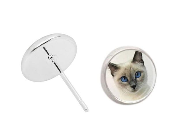 COE3 Per Kim new fashion orecchini in argento modello Cat carino per regalo regalo di compleanno