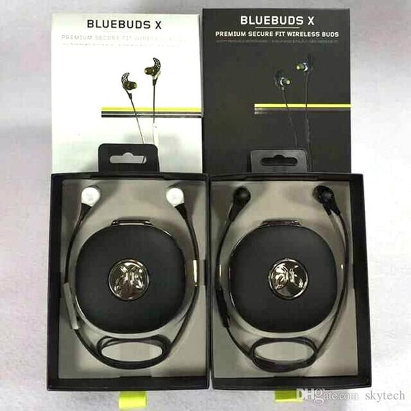 Jay B BlueBuds X Wireless Sport Earphone Professional Training Bluetooth Headphone with Retail Box Jay Bird Ultralight Headset DHL Free Ship