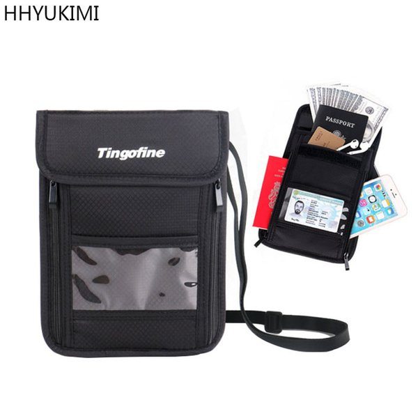 fb686913743c HHYUKIMI Neck Hanging Travel Passport Cover Wallet ID Holder Storage Clutch  Money Bag Travel Multifunction Package Branded Wallets Buy Wallet From ...