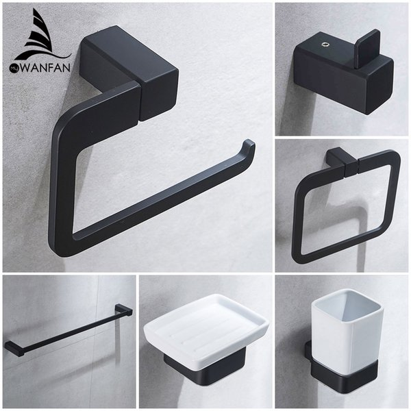 Bathroom Series European Modern Bathroom Hardware Toilet Paper Holder Cup Holder Soap Dish Robe Hook WF-92200
