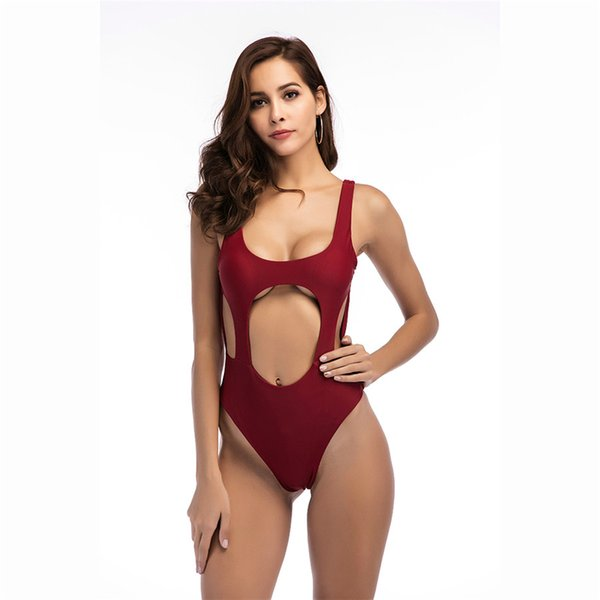 3246bc3f75 Hot One Piece swimsuit Women Thong Swimwear Backless White Black Pool Bathing  suit swimming Suits Sexy