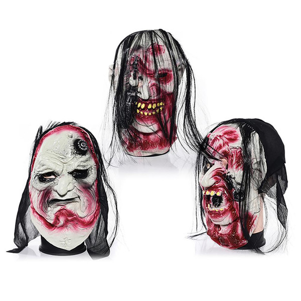 Halloween Grimace Mask Horror Zombie Devil Latex Whole Ghost Mask Festival Masquerade Party Halloween Decoration
