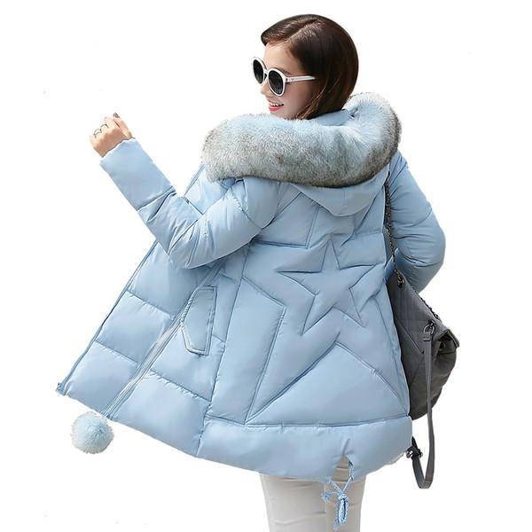 2018 New winter jacket women long coat female ladies overcoat Parka fur collar Cotton Padded Warm Coat Plus Size High Quality S919