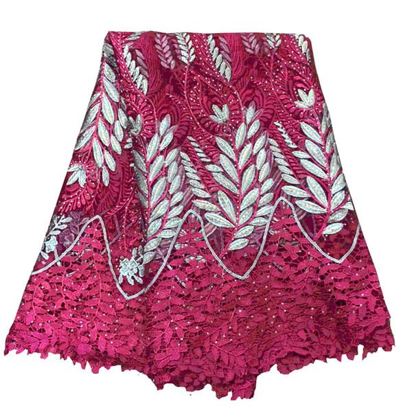 2018 Africanos cordones telas bordadas nigeriano Guipure cordón francés tela de encaje de alta calidad africanos francés Net Lace H355-2