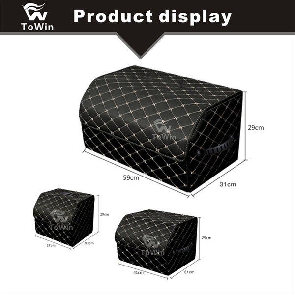 Collapsible Car Interior Accessories Auto Trunk Storage Box with Handles Portable and Big Capacity Design Container Locker