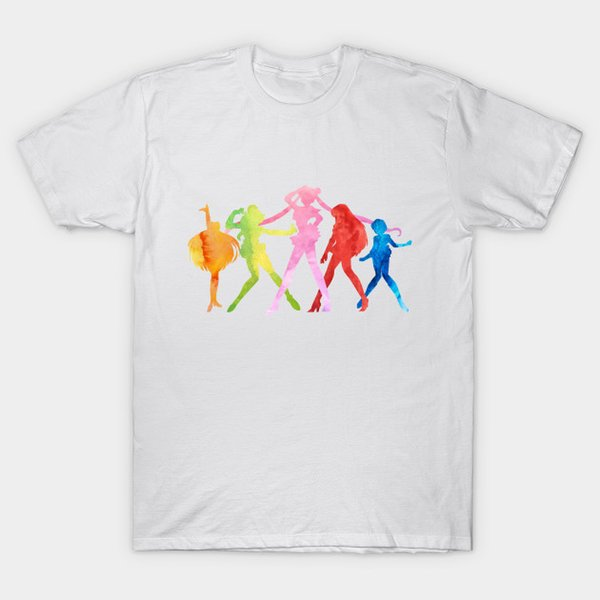 Sailor Scouts in Water Color T-Shirt sailor moon
