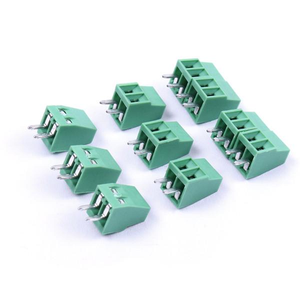 50pcs 2 Pin 3Pin 2.54mm PCB Universal Screw Terminal Block Connector