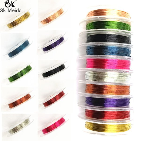 1 Roll 0.3mm 10m Soft Useful Sturdy Alloy Copper Silk Thread DIY Craft Beading Wire For Jewelry Making Wholesale Cord String Accessories
