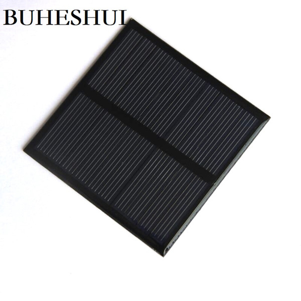 BUHESHUI 0.7W 5V Mini Solar Panel Polycrystalline Solar Cell Small Power 3.7V Battery Charger Led Light Study 10pcs 70*70MM