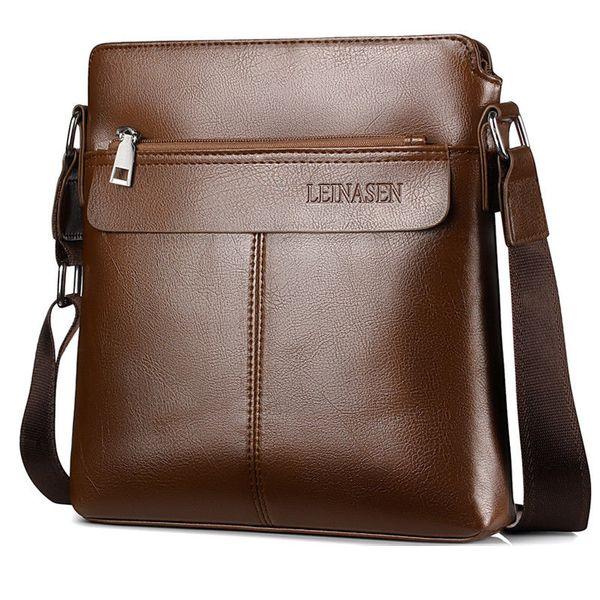 MeiHuiDa 2018 New Style Fashion Zipper Messenger Bag Casual School Youth Faux Leather Men's Crossbody Bag