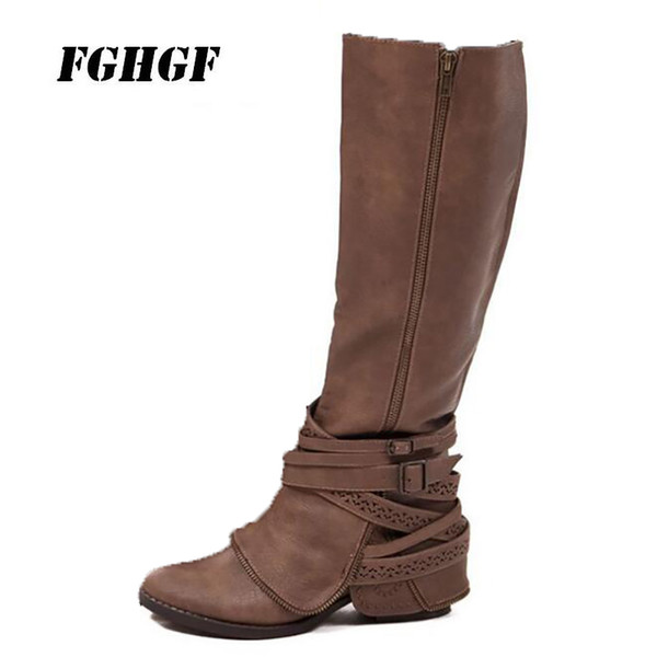Exempt postage The latest hot style boots for women The fashion leisure Long boots personalized Sexy female Big yards 43