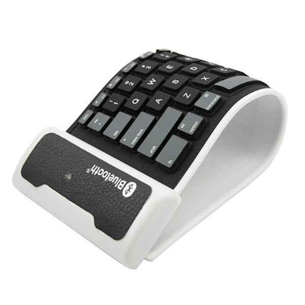 Cheap Silicone Mini Bluetooth Wireless Keyboard Waterproof Flexible Folding Keyboard For iPad 2 3 4 air mini iPhone Phone factory price