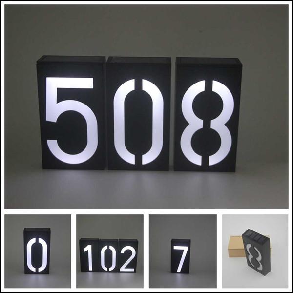Safely 6 LED Solar Power Lamp IP65 Waterproof Outdoor Garden1-9 House Number Doorplate Light Environmental Protection Lighting