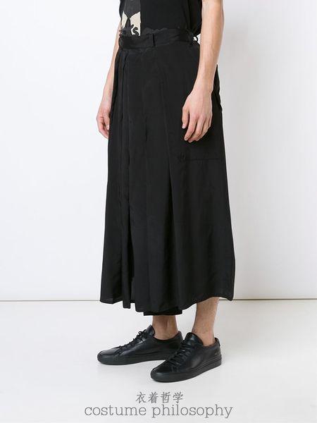 27-44 ! 2016 новая мужская одежда мода мужской плиссированные брюки кюлоты брюки Широкие брюки плюс размер певица костюмы
