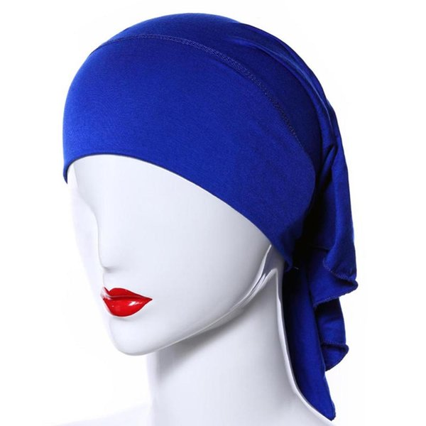 20 Colors Muslim Women Soft Comfort Inner Hijab Caps Islamic Under scarf Hats