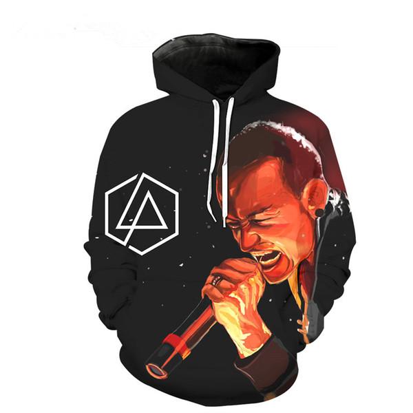 fashion 3d hoodies women/men linkin park chester bennington print longsleeve hooded sweatshirts casual pullovers  h83