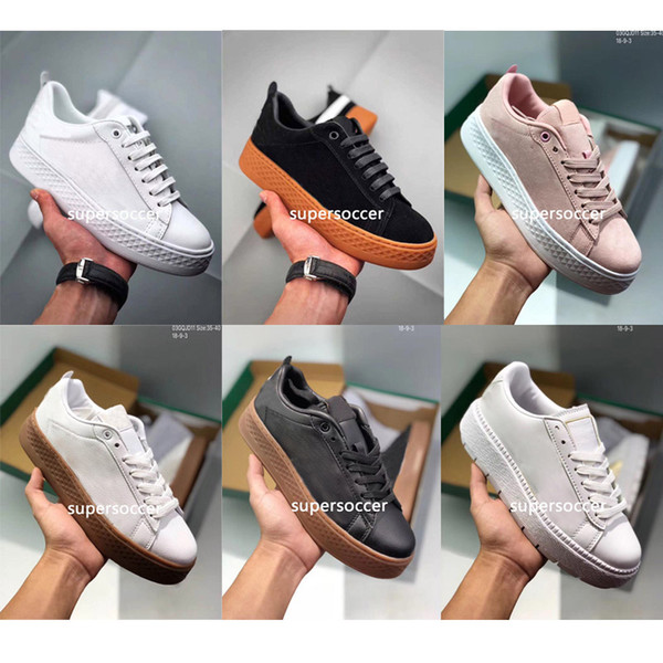 Rihanna x Suede Women And Mens Rihannas Shoes Sneakers Creeper Camo Black Gold Tiple White Running Shoes free shipping