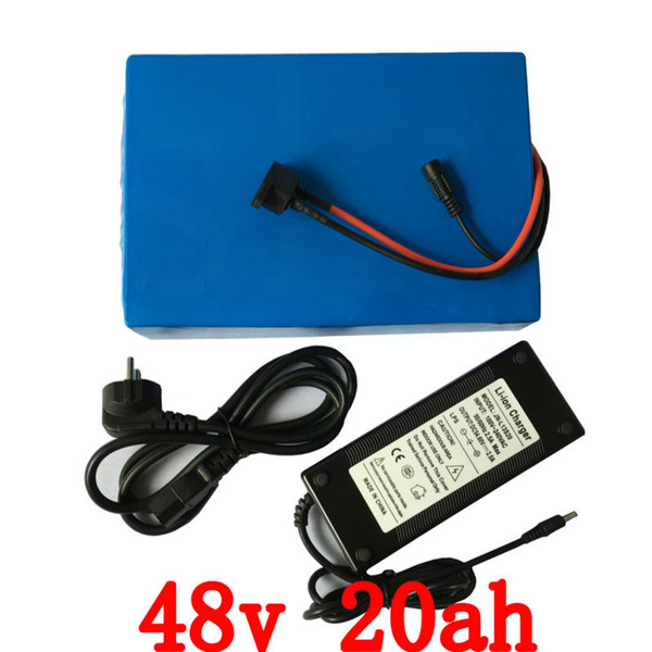 EU US no tax 48Volt electric bike battery 48v 20ah 1000W Lithium battery 48V 20AH scooter battery with BMS 54.6V 2A charger