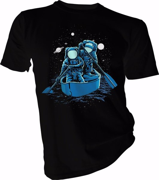 Rowing Adult /& Kids T-Shirt Across The Galaxy Space