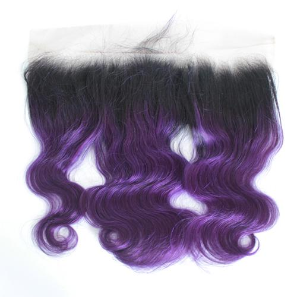 1B/Purple 13*4 lace Frontal