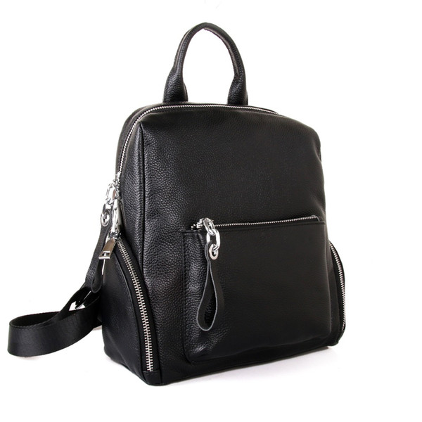 wholesale Genuine Leather Brand Famous Fashion Designer Backpacks High Quality Female Hot Sale For Teenage Girls School Bags