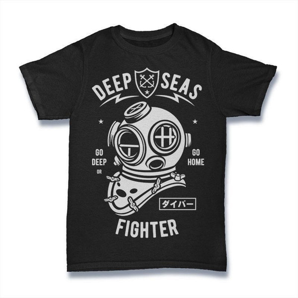 DEEP SEAS FIGHTER T SHIRT sur le navire mens Black S-3XL 2018 Vente chaude Super Fashion Top Harajuku Shirt