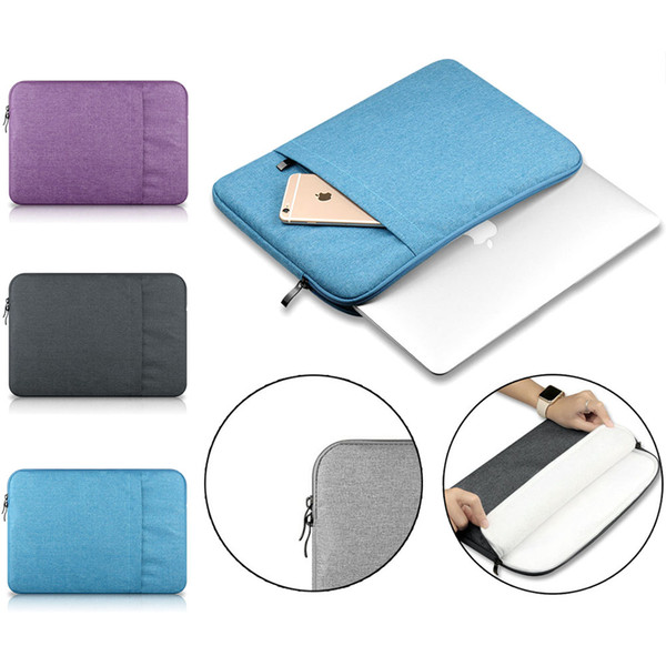 """Laptop Notebook Sleeve 11 12 13 15-Inch for MacBook Air Pro Retina Display 12.9"""" iPad Soft Cover Bag Case for Apple Samsung Computer"""