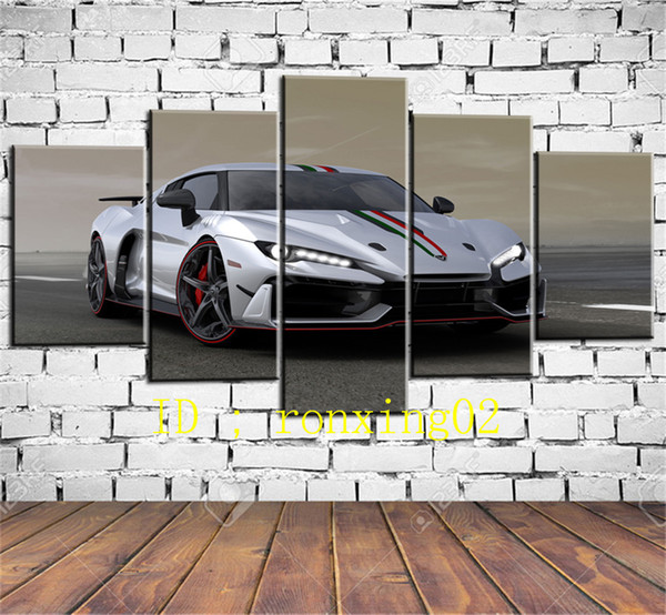 Italdesign Special Cars Geneva 2017 5 Pieces Home Decor HD Printed Modern Art Painting on Canvas (Unframed/Framed)