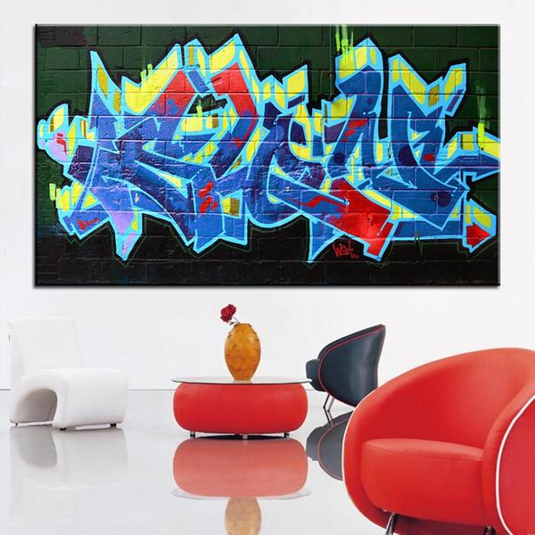 Di grandi dimensioni Stampa Pittura A Olio graffiti lettera Wall painting Casa Decorativa di Arte Della Parete Picture For Living Room painting No Frame