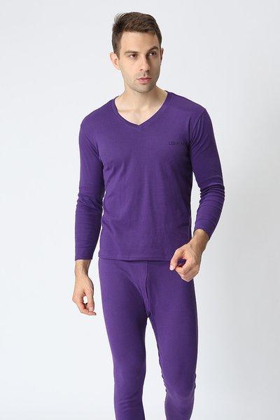 Purple v collar