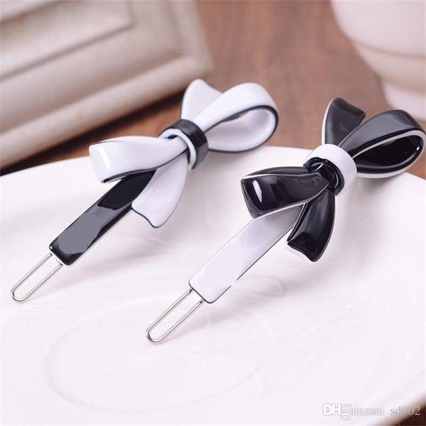 Women Fashion Head Accessories Bow Hair Pin Lady Barrette Luxury C Style Designer Minimalism Cross Clip High Quality 5kf Ww