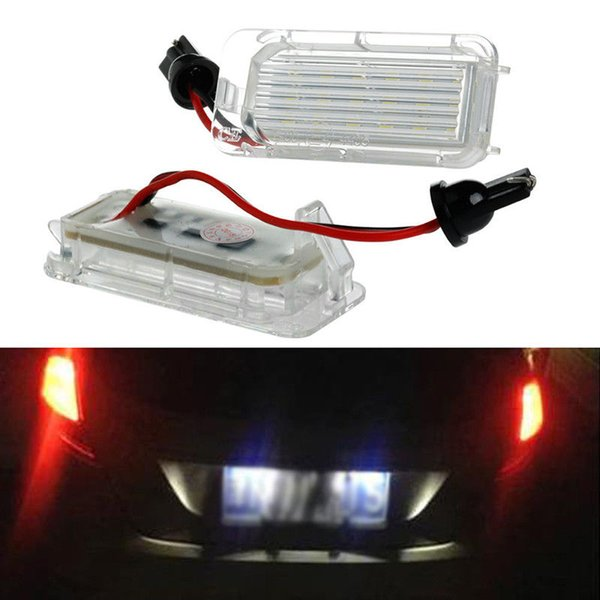 New 2pcs 18LED Canbus License Plate Light Lamp For Ford Mondeo Focus 5D C-MAX