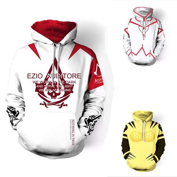 Hip Hop Assassin Creed Hoodies 3D Streetwear Mens Clothing Long Sleeve Autumn Winter Pullover Sweatshirt Costume Cosplay