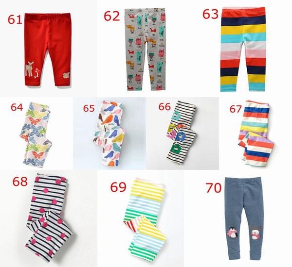 XMAS Deer rainbow Print Kids dot polka pp pants print leggings kids 100% cotton print tights children flower Trousers 2-7years