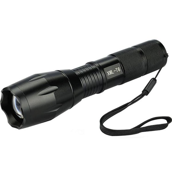 High Power CREE XML-T6 flashlight 5 Modes 3800 Lumens LED Flashlight Waterproof Zoomable Torch lights for 3xAAA or 1x18650 battery