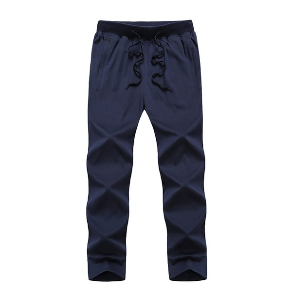 Big Size 8XL 9XL Men Cotton Thin Sweatpants Summer Male Casual Big Pocket Loose Solid Elastic Breathable Jogger Baggy Trousers