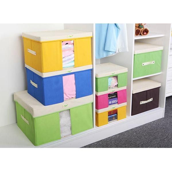 Storage Boxes Cartoon Pattern Fabric Cloth Bra Underwear Storage Box Socks Organizer Wardrobe Closet Home Organization