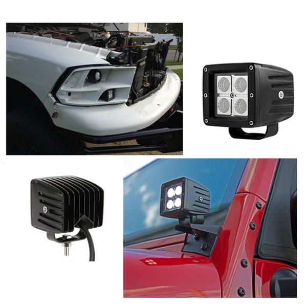 ECAHAYAKU 2PCS 12W LED lavoro leggero trattore fuoristrada 4WD 4x4 camion carro SUV ATV UTE Yacht 12V 24V guida faro fendinebbia