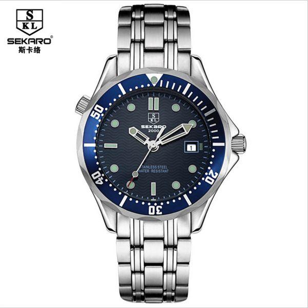 SEKARO Men's Royal Classic Automatic Mechanical Watch Luxury Brand Business Watch Date Window Wristwatch relogios masculino