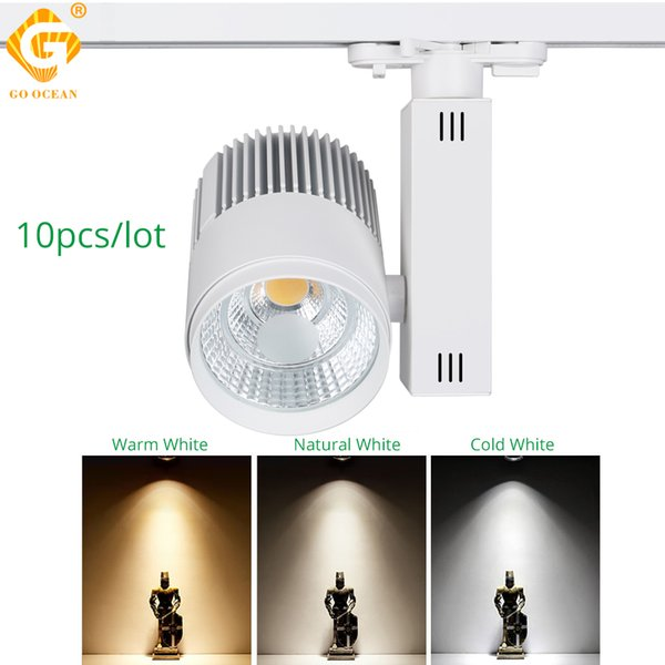 Track Light Dimmable 30W Rail Spot Lamp LED Rail Lighting System Showroom Clothes Shoes Shop Store Spotlight Exhibition Lamps fixture
