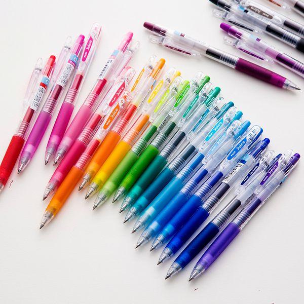 JIANWU 6pcs 12pcs 36pcs/set japan PILOT juice pen colour gel pen Press neutral School supplies 0.5mm