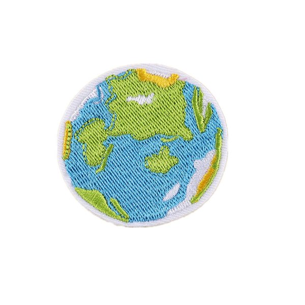 5CM Embroidered Patches Earth Space Sewing Iron On Badge For Bag Jeans Hat Appliques DIY Handwork Sticker Decoration Apparel Accessories