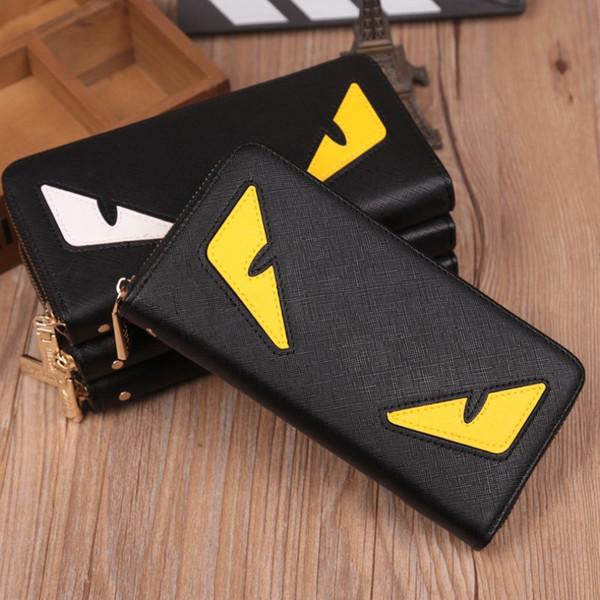Wholesale Little Monster Wallets High Quality PU Leather Fashion Cross-wallet Designer Credit Card Cellphone Purses 3 Colors Hot Sale